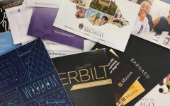 Many universities use mass mail as a way to communicate with upcoming college students.