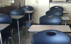With the recent policy that allows students to choose self-quarantine, there are more empty seats in classrooms at Rogers High School.
